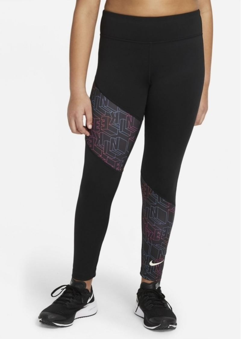 Nike Big Girls Trophy Printed Training Leggings Pants