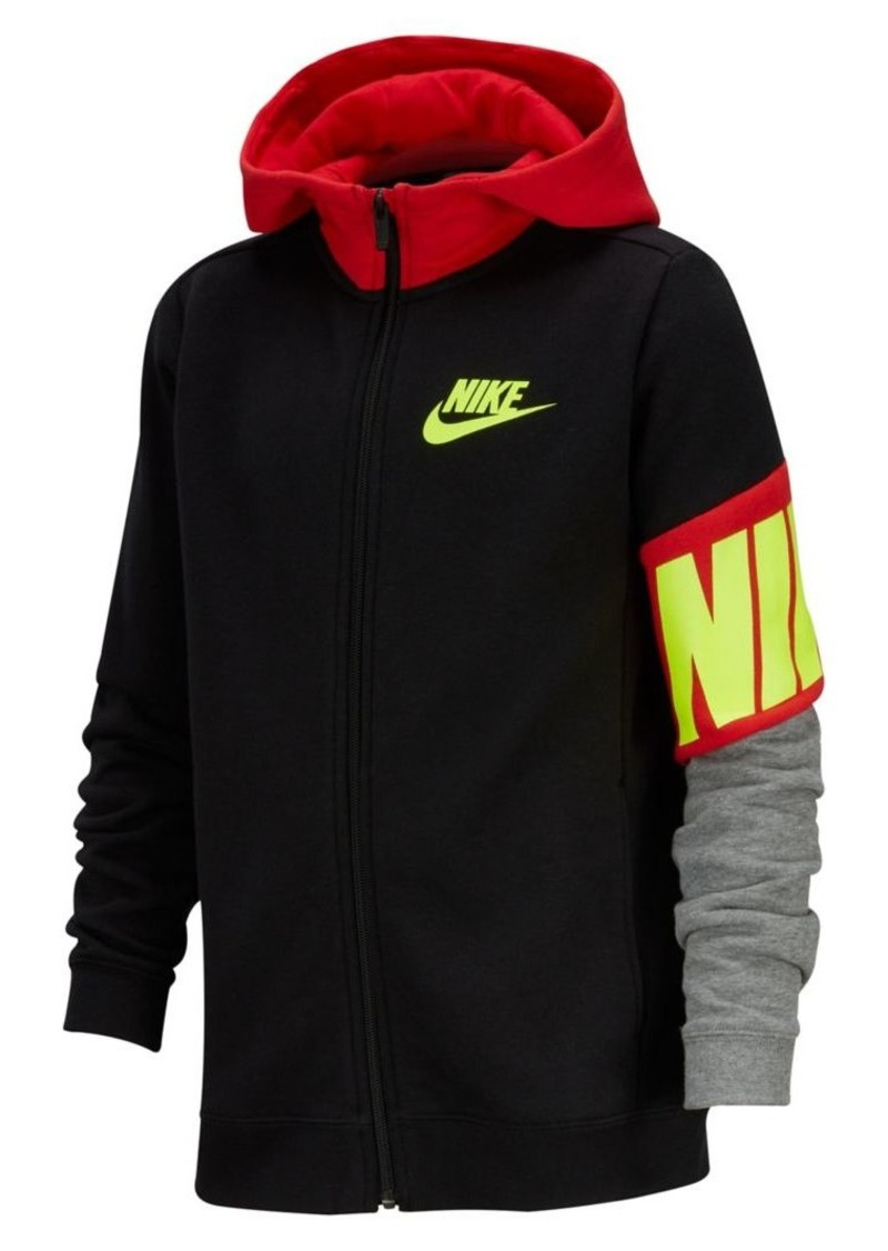 Nike Boy's Cotton Blend Hooded Jacket
