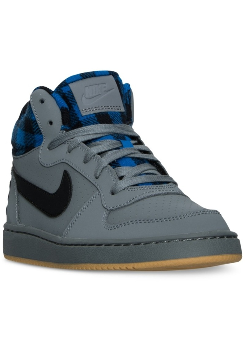 on sale today nike nike boys 39 court borough mid premium casual sneakers from finish line shop. Black Bedroom Furniture Sets. Home Design Ideas