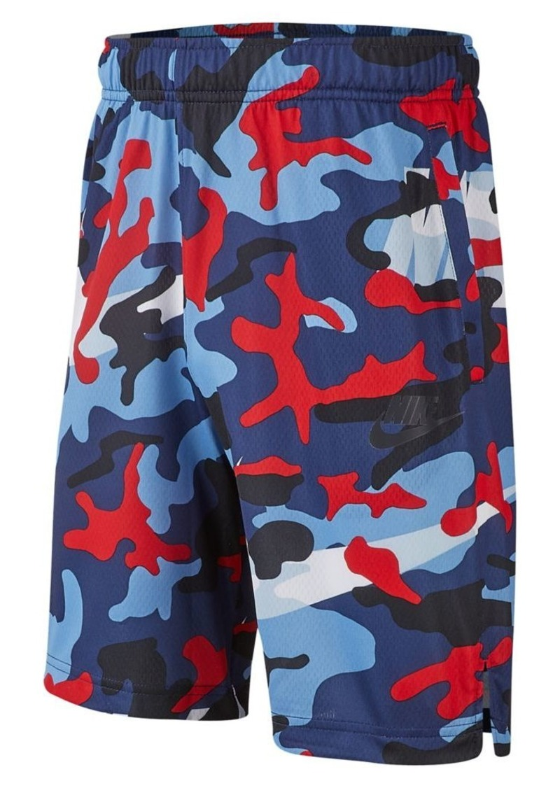 Nike Boy's Dri-FIT Mesh Camouflage Shorts