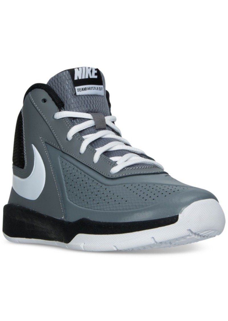 a496d510dec0 Nike Nike Boys  Team Hustle D7 Basketball Sneakers from Finish Line ...