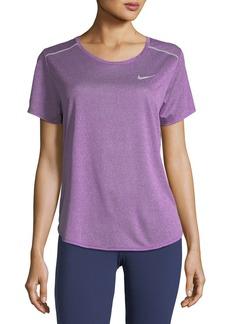 Nike Breathe Short-Sleeve Draped-Back Performance Top