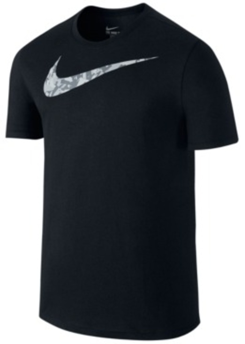 Sale nike nike camo swoosh dri fit training t shirt for Nike swoosh logo t shirt