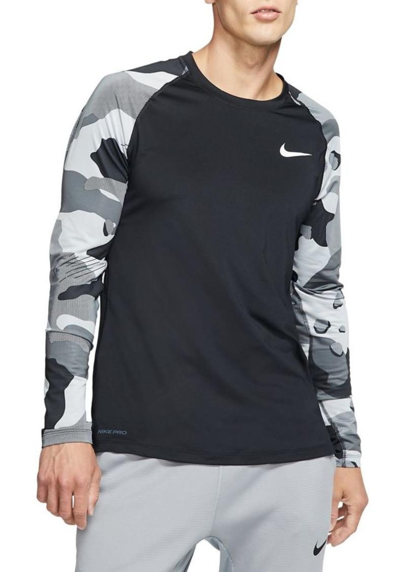Nike Camouflage Raglan-Sleeve Top