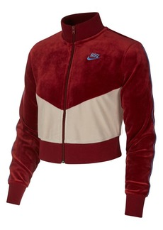 Nike Chevron Fleece Zip-Front Jacket
