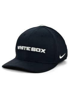 Nike Chicago White Sox Legacy 91 Dri-fit Swooshflex Stretch Fitted Cap