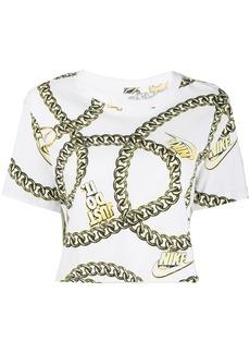 Nike chain-link motif cropped T-shirt