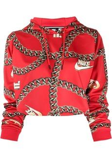 Nike logo motif cropped hoodie
