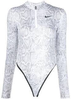 Nike snake-effect print bodysuit