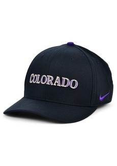Nike Colorado Rockies Legacy 91 Dri-fit Swooshflex Stretch Fitted Cap