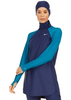 Nike Colorblocked Long-Sleeve Swim Tunic Women's Swimsuit