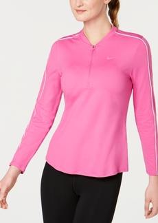 Nike Women's Court Dry Half-Zip Tennis Top