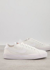Nike Court Legacy canvas sneakers in white