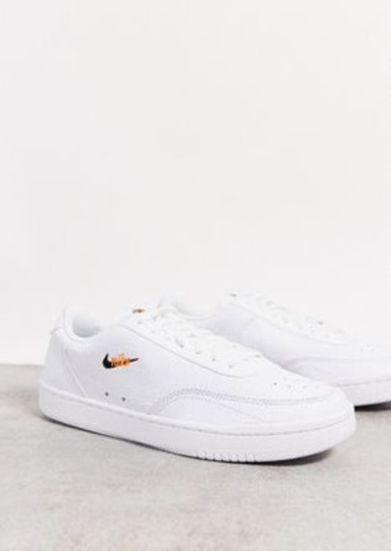 Nike Court Vintage Premium leather sneakers in white