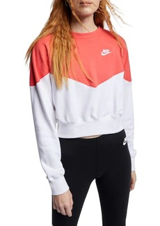 Nike Cropped Cotton Fleece Sweatshirt