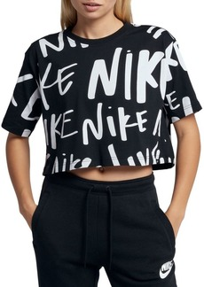 Nike Cropped Graphic Cotton Tee
