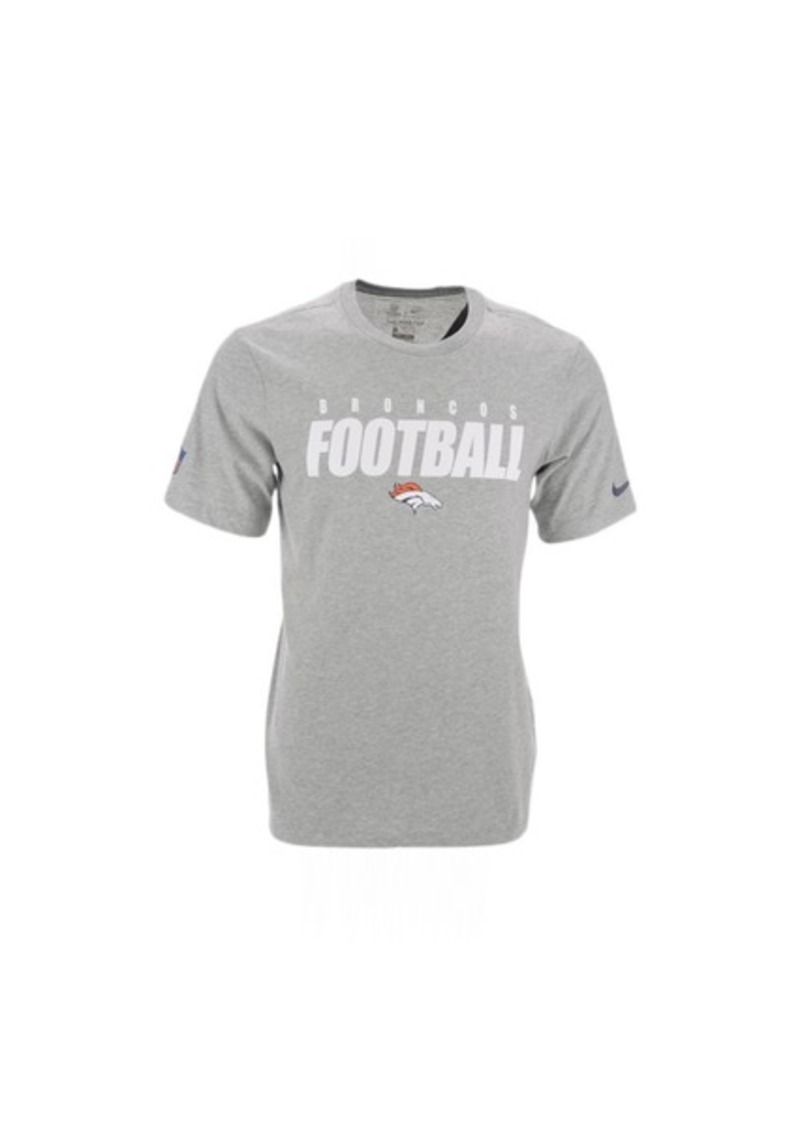Nike Denver Broncos Men's Dri-Fit Cotton Football All T-Shirt