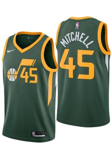 Nike Donovan Mitchell Utah Jazz Earned Edition Swingman Jersey, Big Boys (8-20)
