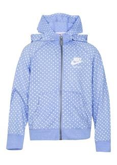 Nike Dot-Print Zip-Up Hoodie, Toddler Girls