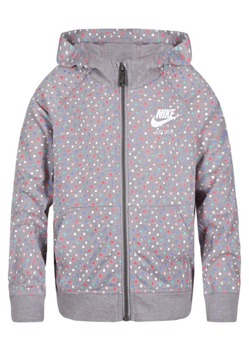 Nike Nike Dot-Print Zip-Up Hoodie 46643f915