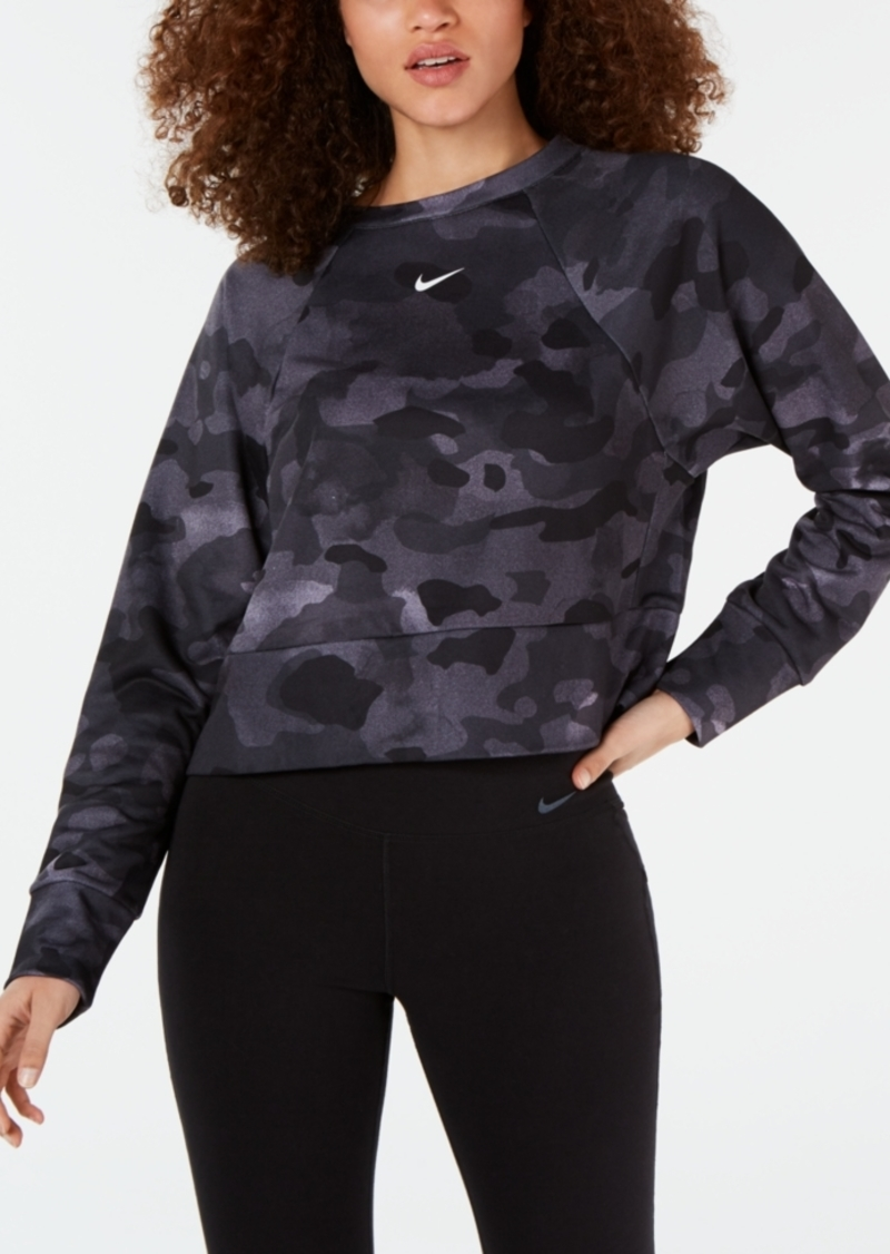 Nike Women's Dri-fit Camo Fleece Training Top