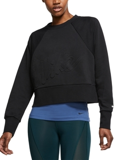 Nike Women's Dri-fit Fleece Cropped Training Top