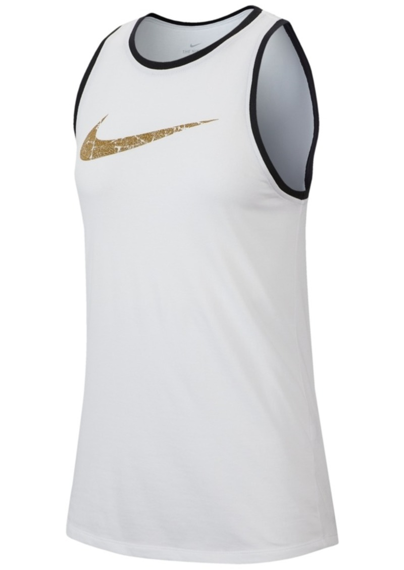 Nike Women's Dri-fit Glam-Logo Training Tank Top