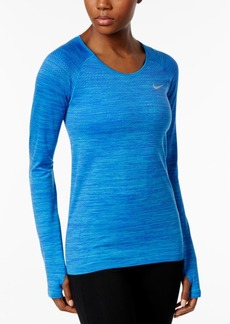 Nike Dri-fit Knit Long-Sleeve Running Top