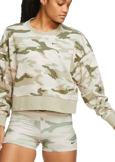 Nike Dry Get Fit Camo Cropped Sweatshirt