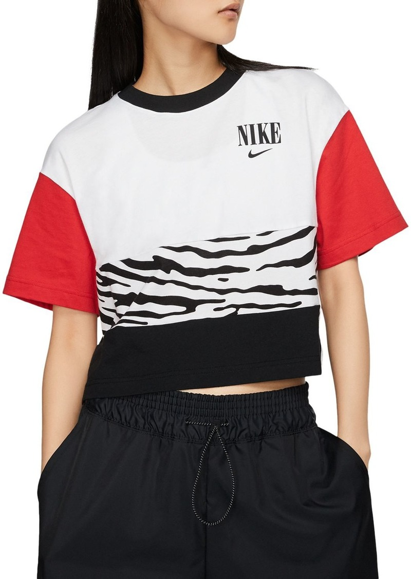 Nike Essential Color-Block Cropped Top