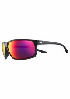 Nike Eyewear Men's Nike Adrenaline M Rectangular Sunglasses MATTE BLACK/WHITE 66 mm