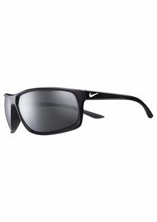 Nike Eyewear Men's Nike Adrenaline Polarized Rectangular Sunglasses  66 mm