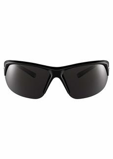 Nike Eyewear Men's Nike Skylon Ace P Polarized Rectangular Sunglasses BLACK