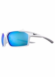 Nike Eyewear Men's Nike Traverse M Rectangular Sunglasses WHITE/ANTHRACITE 65 mm