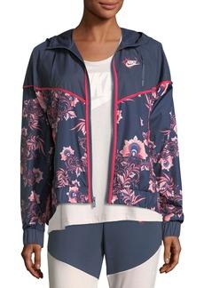 Nike Floral-Print Sportswear Jacket