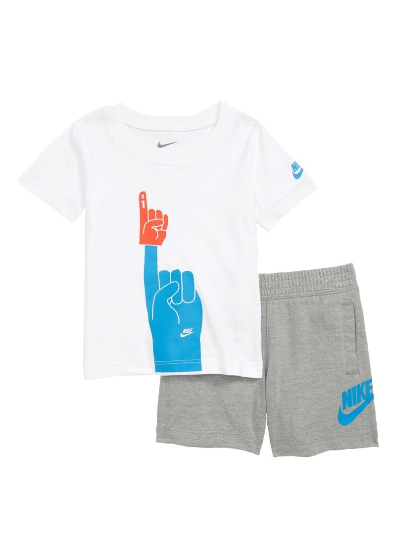 Nike Nike Futura Foam Finger Graphic T-Shirt   Knit Shorts Set (Baby ... fa02a80ec