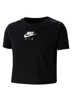 Nike Girl's Air Graphic Cotton Cropped Tee