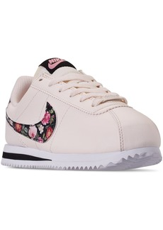 Nike Girls Cortez Basic Leather Casual Sneakers from Finish Line