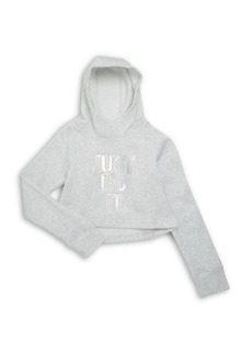 Nike Girl's Just Do It Cropped Hoodie