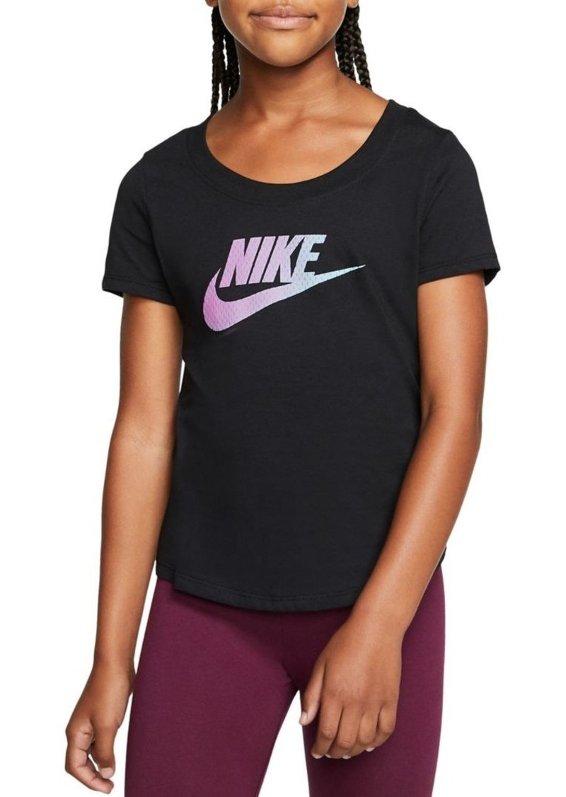 Nike Girl's Logo Cotton Tee