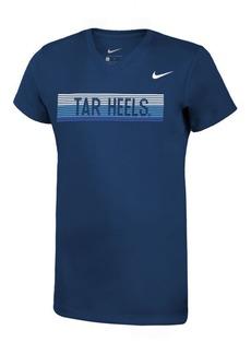 Nike Girls' North Carolina Tar Heels Legend V-Neck Mascot T-Shirt