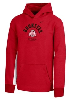 Nike Girls' Ohio State Buckeyes Fleece Hooded Sweatshirt