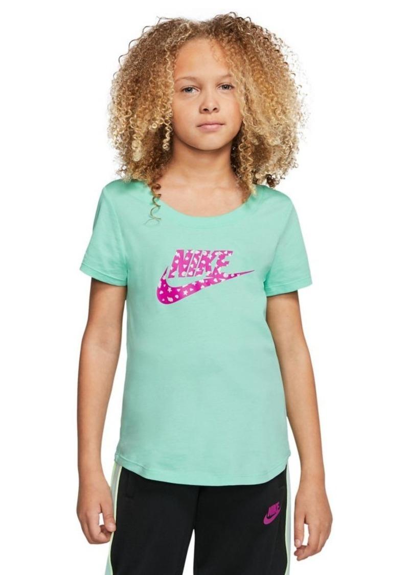 Nike Girl's Sportswear Graphic Cotton Tee