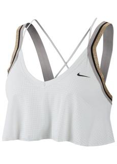 Nike Women's Glam Dunk Metallic Strappy-Back Mid-Impact Sports Bra