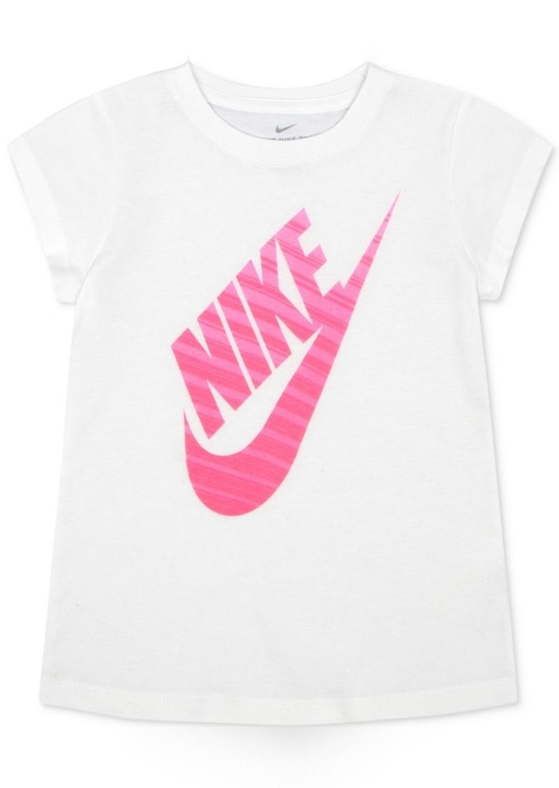 af4b1f9ce Nike Nike Glitter-Stripe Logo T-Shirt, Little Girls Now $9.00