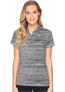 Nike Golf Precision Zebra Print Polo