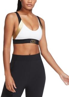 Nike Women's Indy Low-Impact Metallic Sports Bra