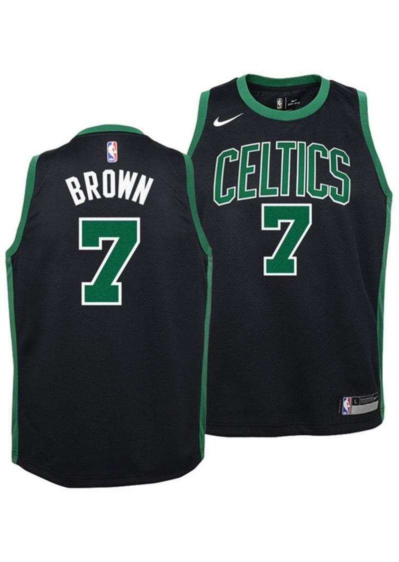 Nike Jaylen Brown Boston Celtics Statement Swingman Jersey, Big Boys (8-20)