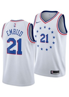 Nike Joel Embiid Philadelphia 76ers Earned Edition Swingman Jersey, Big Boys (8-20)