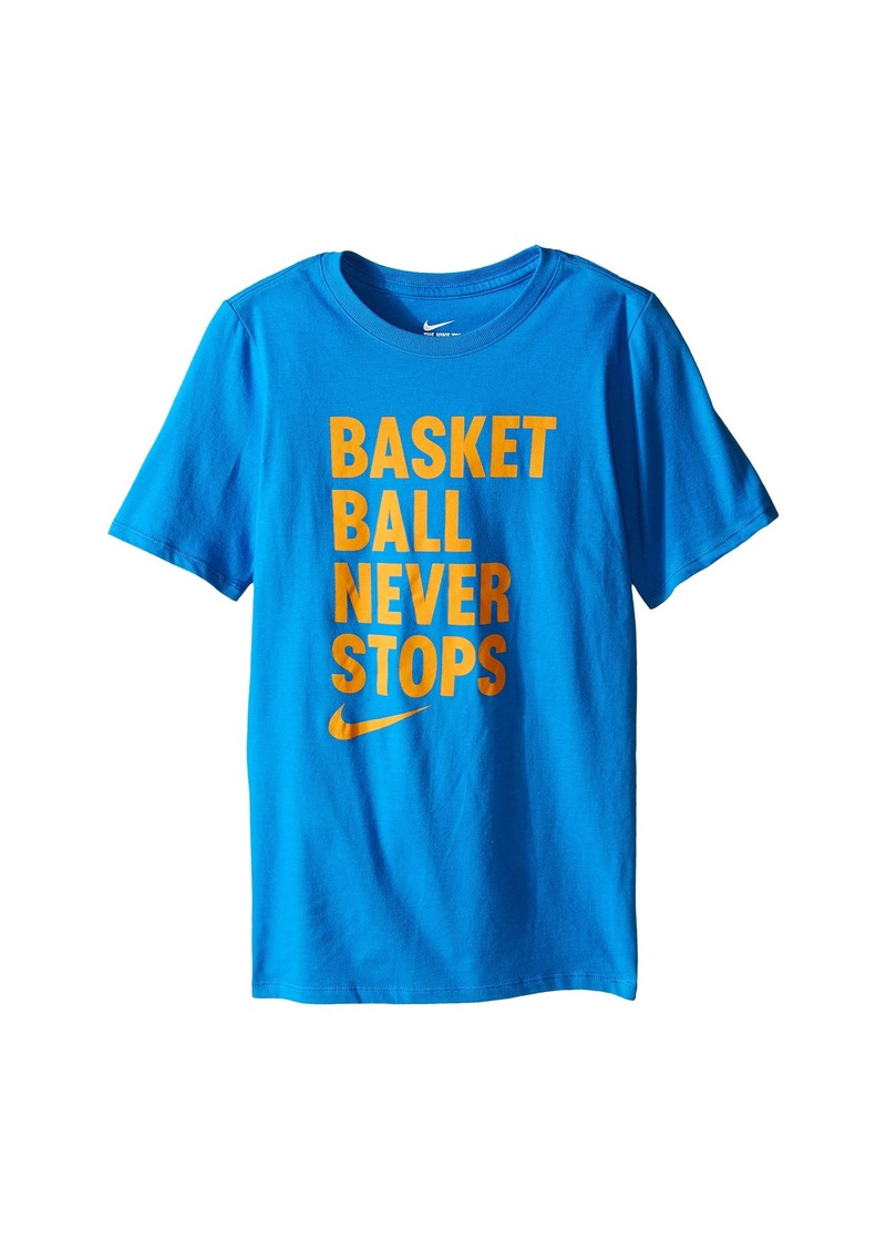 Nike Kids Basketball Never Stops Tee (Little Kids/Big Kids)